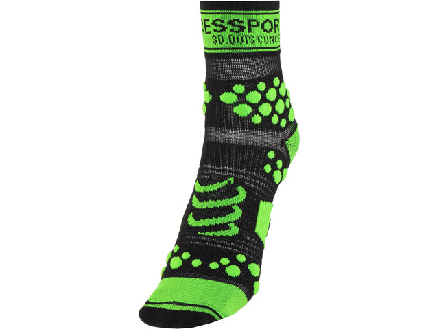 Compressport Racing V2 Trail High Socks black/green